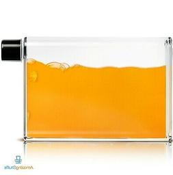 BPA Free Plastic Flat 350ML Leakproof Cool Water Bottle For