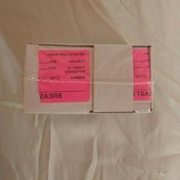 Breast Milk Baby Bottle Storage Label Pink Roll of 320 NEW