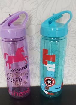 childs Personalised school Water Bottle / flip top bottle wi
