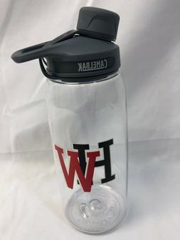 CamelBak Chute 1 Liter  Water Bottle, Clear, HW Logo, Free S