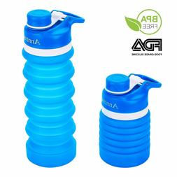 Collapsible Water Bottle BPA Free, FDA Approved Food-Grade S