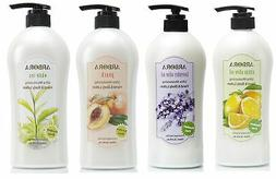 ARBORA Combo Pack 4 Hand & Body Lotion Big Bottle with Pump