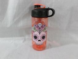 CoolGear 16FL oz Water Bottle For Girls Skull Flower Design