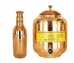 Handmade Copper Water Pot Tank 5 Liter 1 Hammer Water Bottle