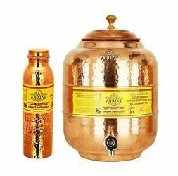 Handmade Copper Water Pot Tank 5 Liter 1 Hammer Leak Proof W