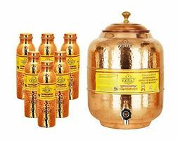 Handmade Copper Water Pot Tank 5 Liter 6 Hammer Leak Proof W