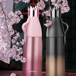 Crown Stainless Steel Water Bottle Child Mug Cup Travel Bott