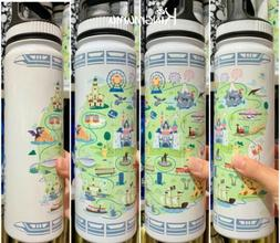 Disneyland Resort Disney Park Map Attractions Icons Stainles