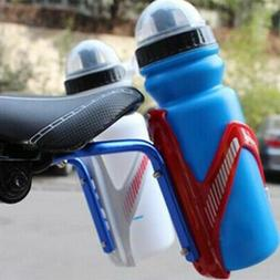Double Water Bottle Holder Cage Bicycle Seat Post Rack Conve