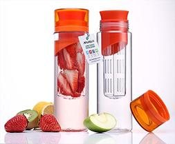 Cupture® Pack of 2 Fruit Infuser Water Bottle - Made of unb