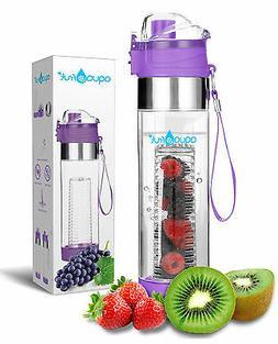 AquaFrut Fruit Infuser Water Bottle-One Click Open Lid  USA