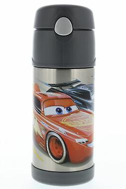 Thermos FUNtainer Vacuum Insulated Kids Straw Bottle, 12oz,