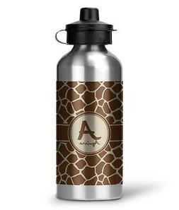 Giraffe Print Water Bottle - Aluminum - 20 oz