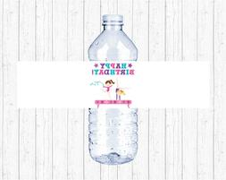 Gymnastics Birthday Party Printable Water Bottle Labels