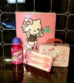 Hello Kitty folder and cutlery Metal Water Bottle With lid a
