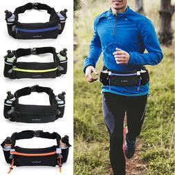 Hydration Running Belt w/ Water Bottles Waist Pack For Women