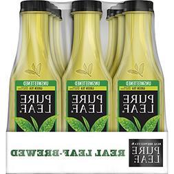 Pure Leaf Iced Tea, Unsweetened Green Tea, Real Brewed Tea,