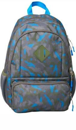 "Kids' Backpack Camo 17"" - Cat & Jack Blue Grey Green multi p"