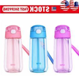 Kids Boys Girls Sport School Drinking Juice Straw Water Bott
