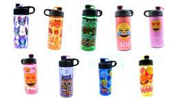 Cool Gear Kids Water Bottle 16 Oz BPA Free Choose Design Emo