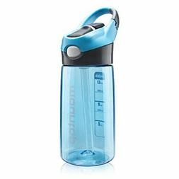 Kids Water Bottle with Straw and Handle for Girls&Boys-Leak-