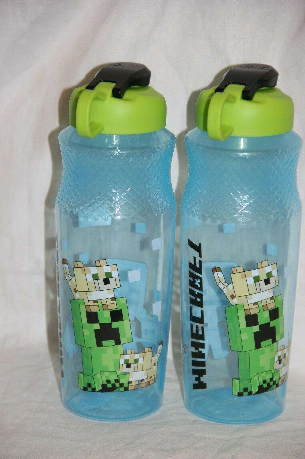 2 minecraft designs kids 30 oz water