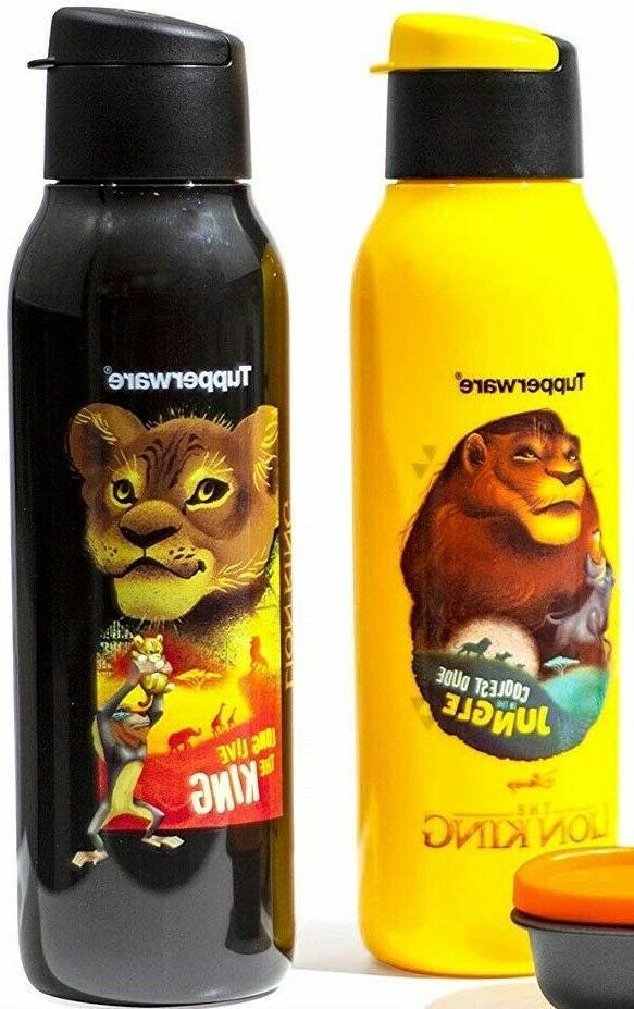 2 X Tupperware Disney Lion King Water Bottles  Set - Kids |F