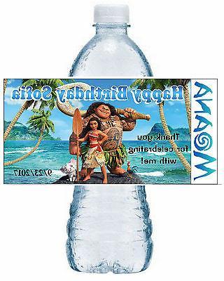 20 disney moana birthday party favors water