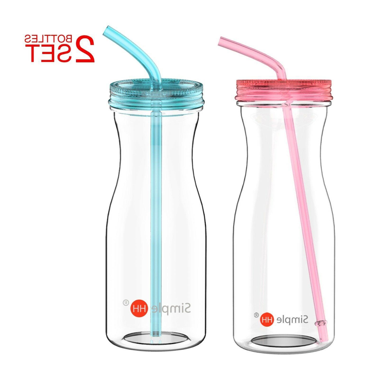 2 Pack Simple HH 33oz Big Capacity BPA Free Tritan Water Bot