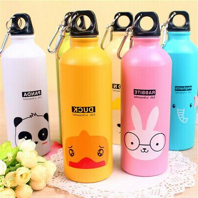 500ml Lovely Cartoon Pattern Water Bottle Kids Outdoor Sport
