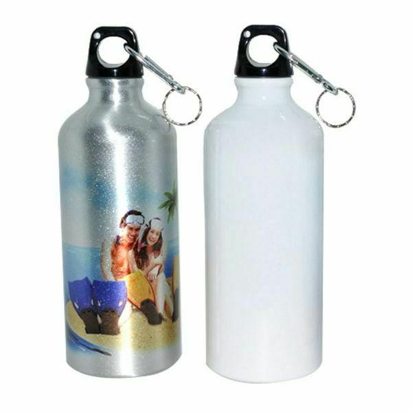 60 PACK White Blank Aluminum Sports Bottle 500ml Sublimation