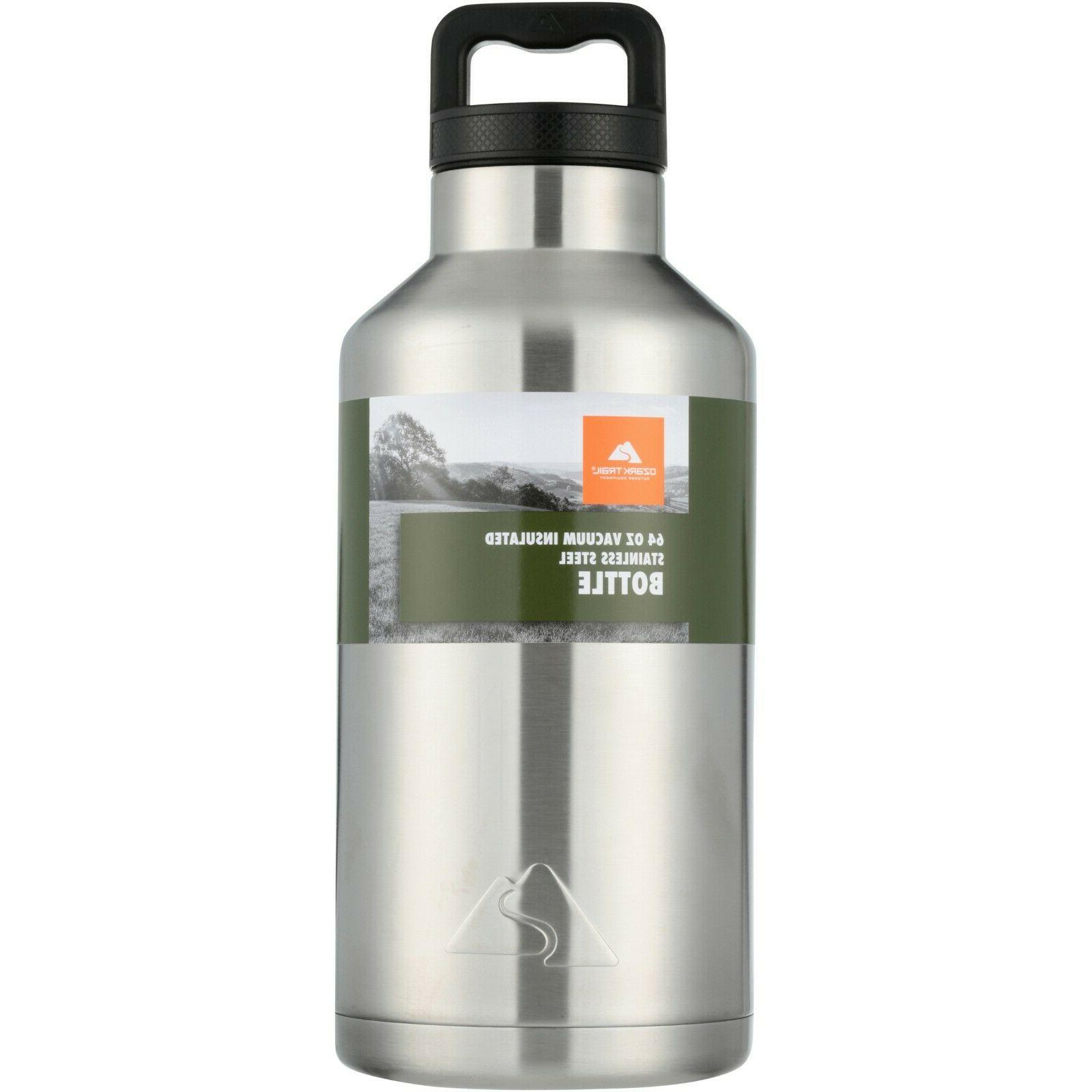 64oz double wall vacuum sealed stainless steel