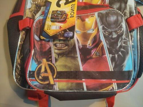 Marvel Backpack Water Bottle Zip Kit School