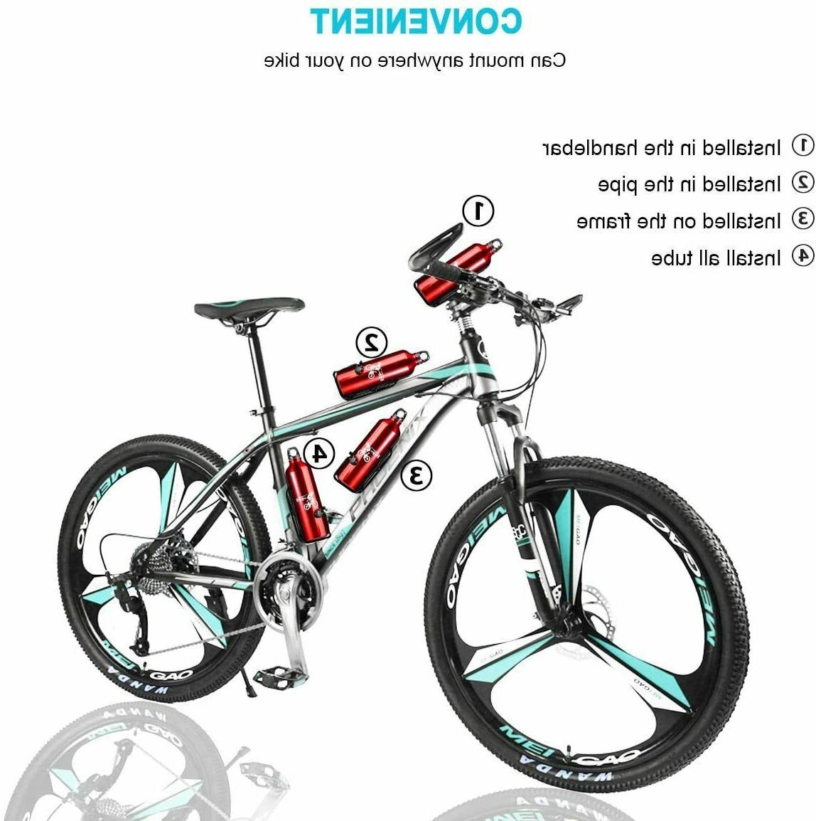 Bike Water Cages Bicycle Lightweight Aluminum Alloy Bottle 2
