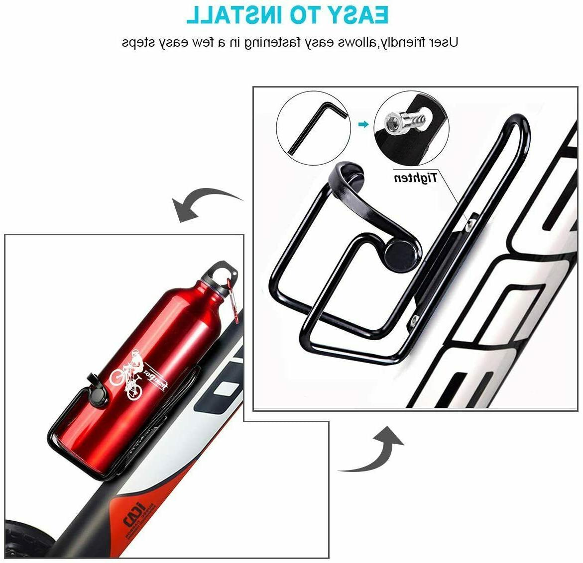 Bike Water Cages Bicycle Bottle Holder 2 Packs