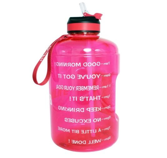 buildlife gallon water bottle with motivational time