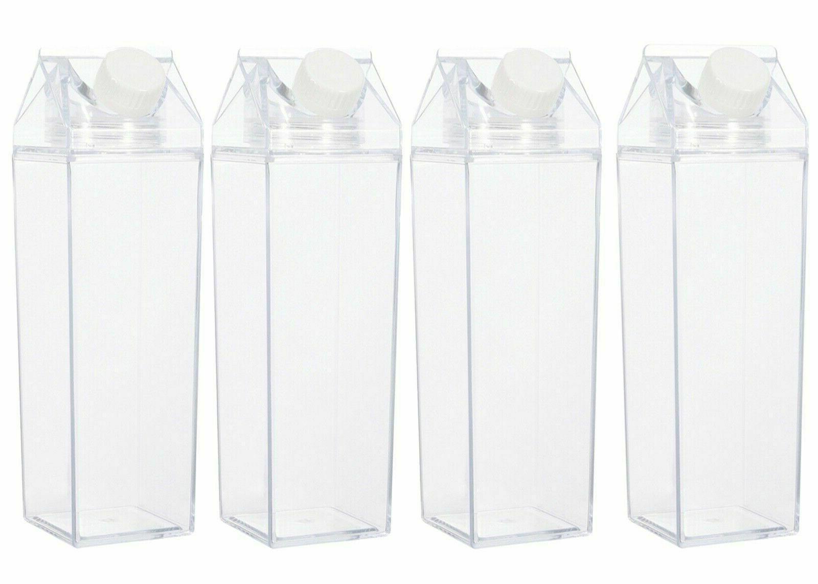 clear plastic milk carton water bottle 2