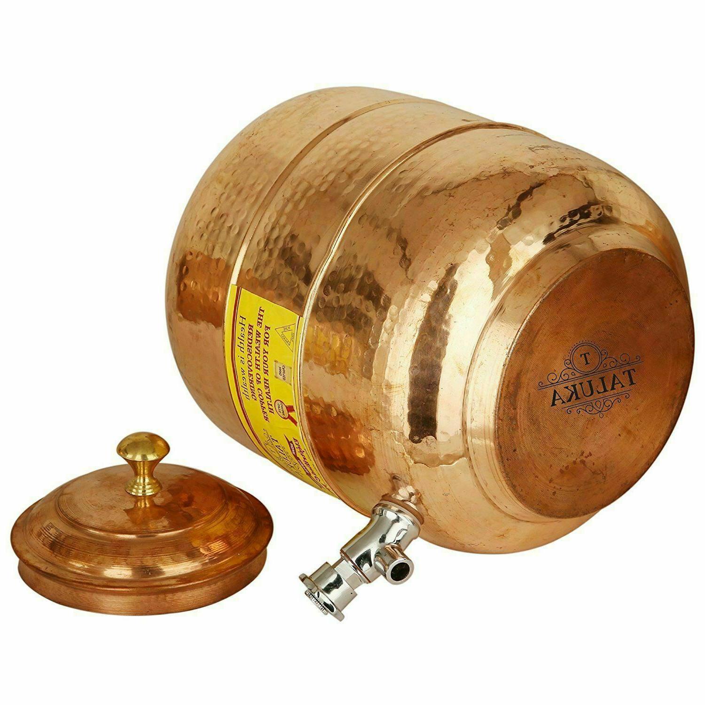 Handmade Copper Pot Tank Hammer Liter Storage