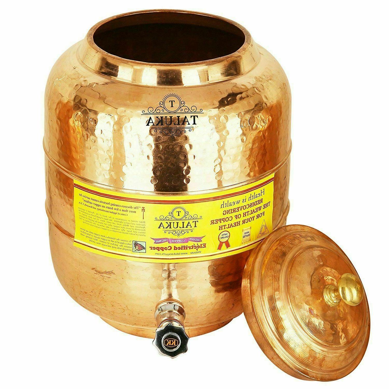Handmade Copper Tank Hammer Water Liter