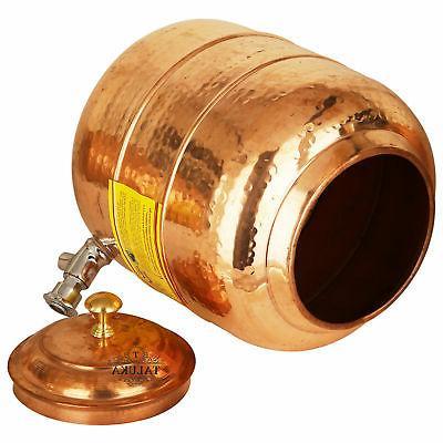 Handmade Copper Tank 5 Liter Hammer Bottle Liter