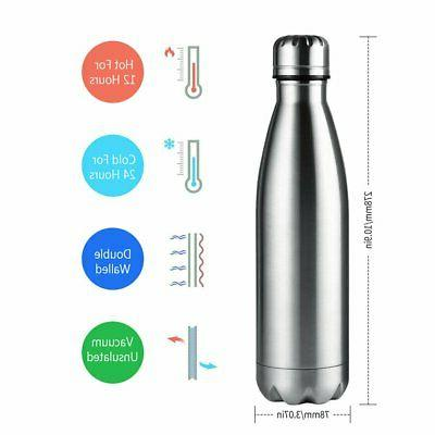 Water Bottle 17Oz Stainless Steel Cool Bottles