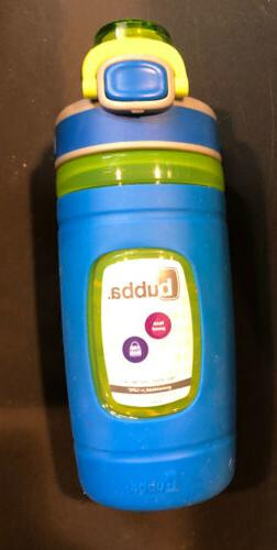Bubba Flo Kids Water Bottle with Silicone Sleeve, 16 oz, Azu