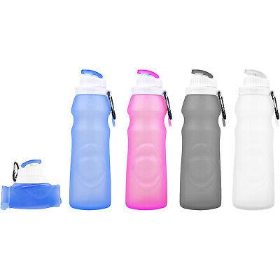 foldable portable silicone water bottle pa free