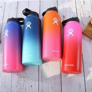Gradient Color Water Bottle Mouth Stainless Steel 32Oz