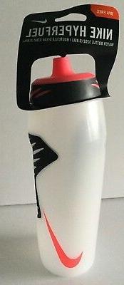 Nike HyperFuel Water Bottle 32oz BPA Free Clear / Black / So
