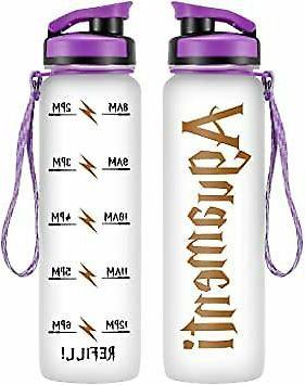 LEADO 1Liter Motivational Water w/Time Marker- Aguamenti