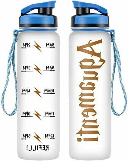 leado 32oz 1liter motivational water bottle w