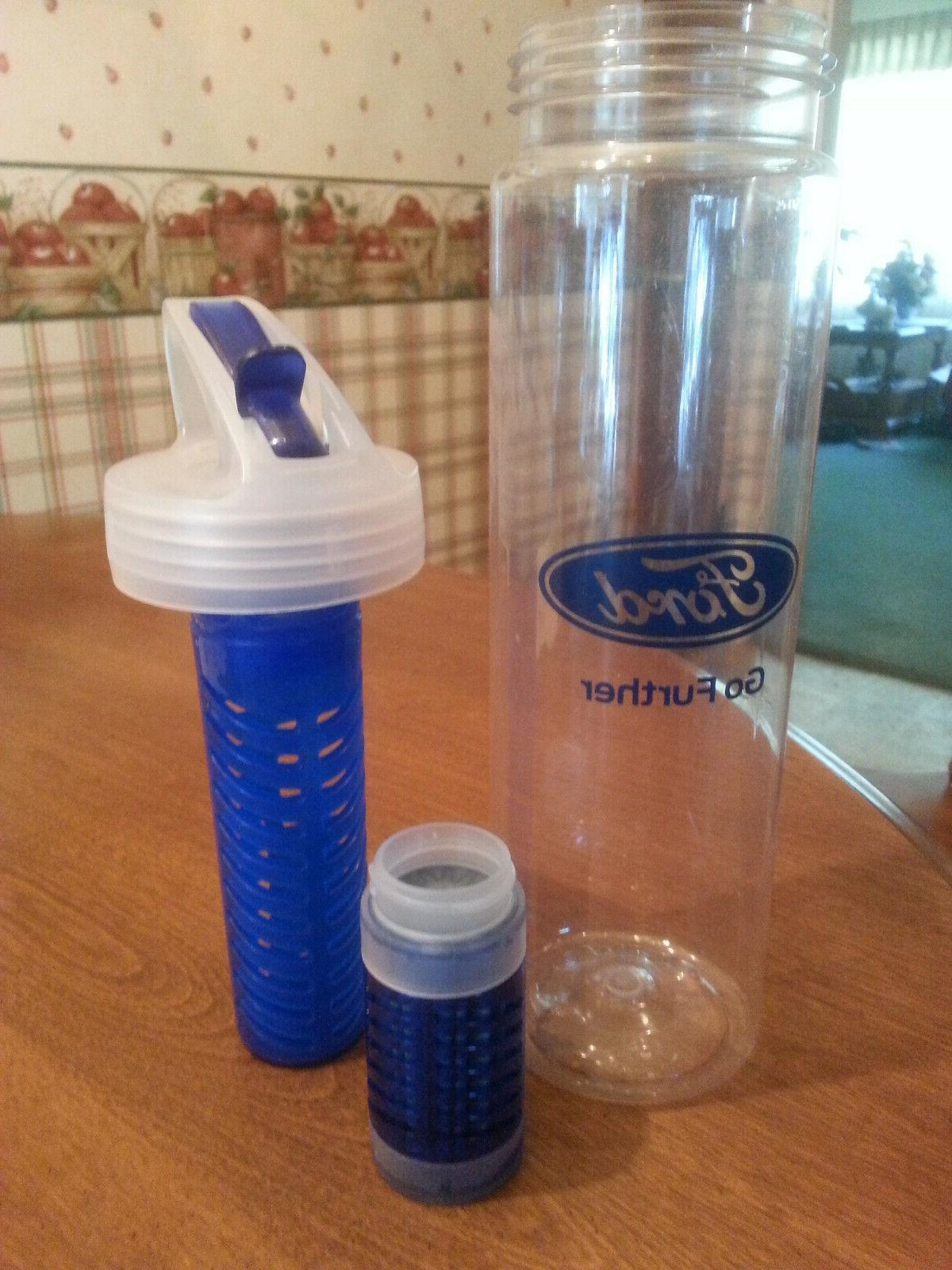 Lot of Water Bottles Drink Bottles - One Ford Logo & filter