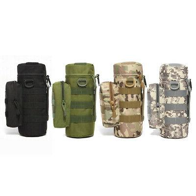 Military Water Bottle Bag Zipper Pouch Kettle Holder Backpac