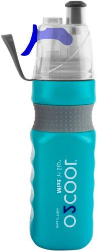 O2 COOL Power Flow Grip Band Bottle with Classic Mist 'N Sip